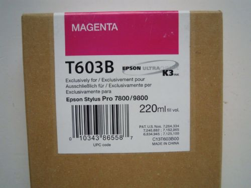 EPSON ULTRA CHROME K3 INK CARTRIDGE MAGENTA T603B